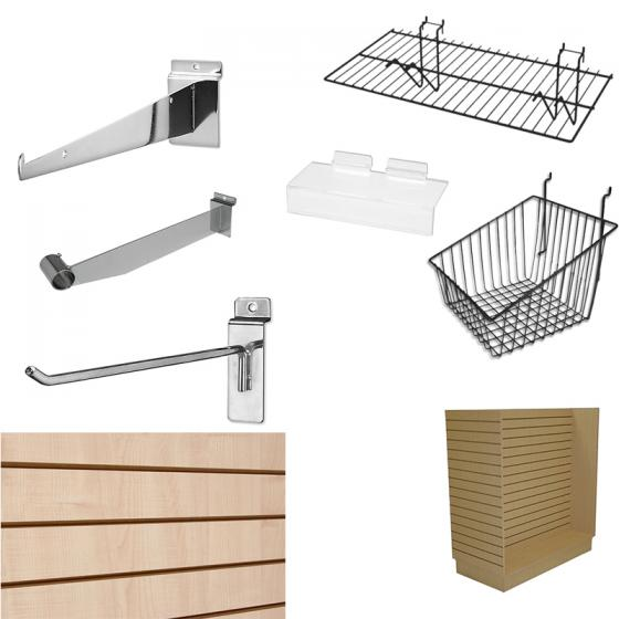 Store Fixture Supplies 3 Pack Wall Mount 6 Cube Rectangle Tubing Waterfall Display Bars