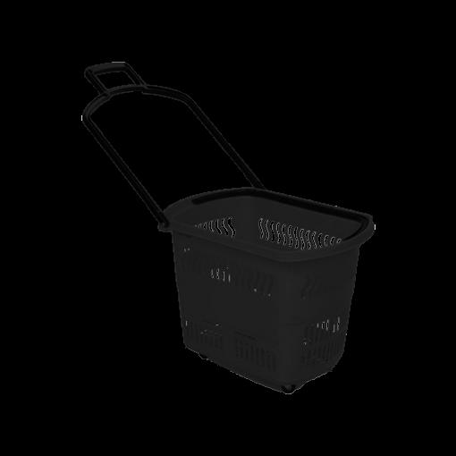 Rolling Shopping Baskets | 30L Regular Black