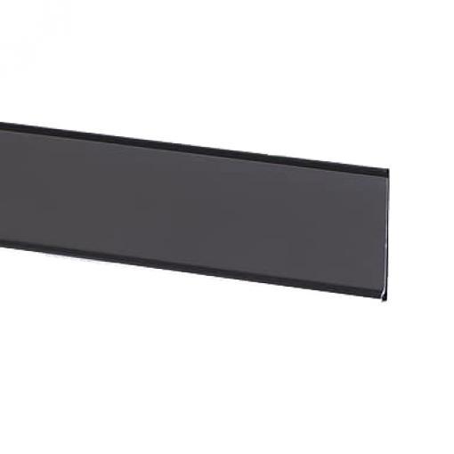 "Adhesive Ticket Molding Black | 1 1/4"" High x 48"" Long"