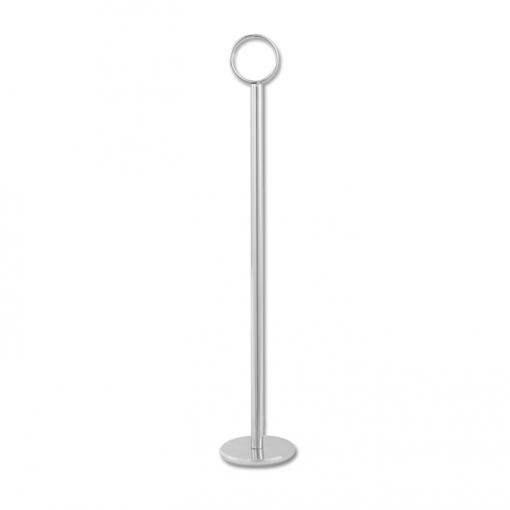 "Countertop Sign Holder Round Base | 12"" Chrome"