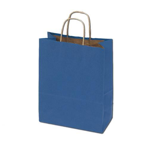 50% Recycled Kraft Bags - Blue