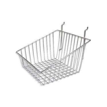 Slatwall Basket Slanted Sides