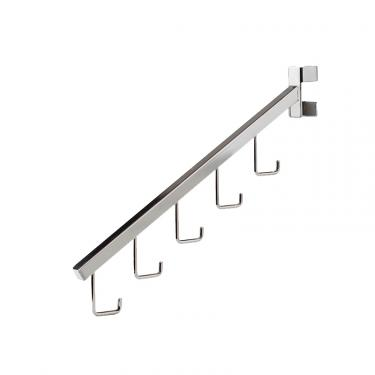 "18"" Slant Arm 5 Hook Twist-On Arm 