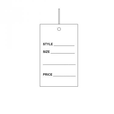 Strung Tag - Style / Size / Price