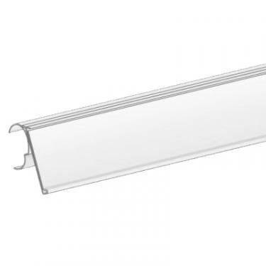 "Wire Shelf Ticket Molding Clear | 1 1/4"" High x 44"" Long"