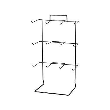 12 Peg Countertop Rack