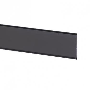 "Adhesive Ticket Molding Black   1 1/4"" High x 48"" Long"
