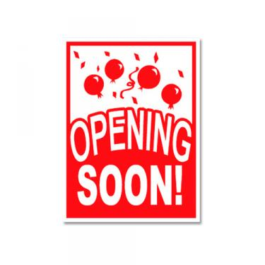"Sign ""Opening Soon"" Card Stock"