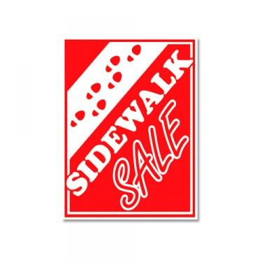 "Sign ""Sidewalk Sale"" Card Stock"