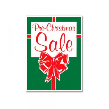 "Sign ""Pre-Christmas Sale"" Card Stock"