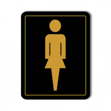 Women's Washroom Sign Card