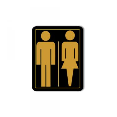 Sign Unisex Washroom Card