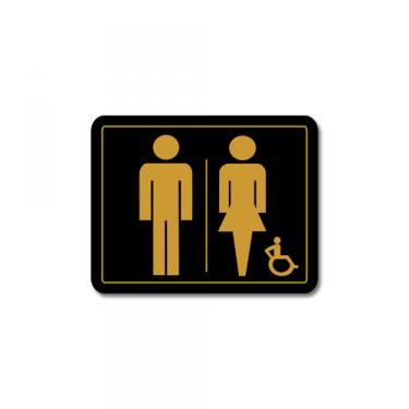 Sign Unisex Disabled Washroom Card