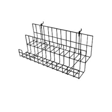 Slatwall Dual Shelf with Pocket