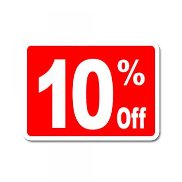 "Sign ""10% Off"" Card"