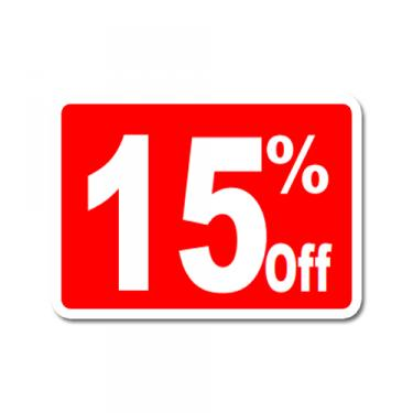 "Sign ""15% Off"" Card"