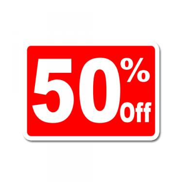 "Sign ""50% Off"" Card"