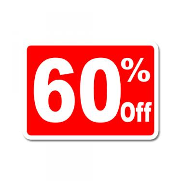 "Sign ""60% Off"" Card"