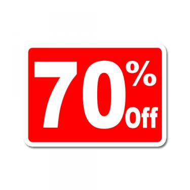 "Sign ""70% Off"" Card"