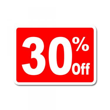 "Sign ""30% Off"" Card"