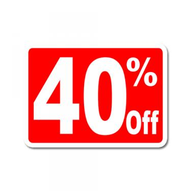 "Sign ""40% Off"" Card"
