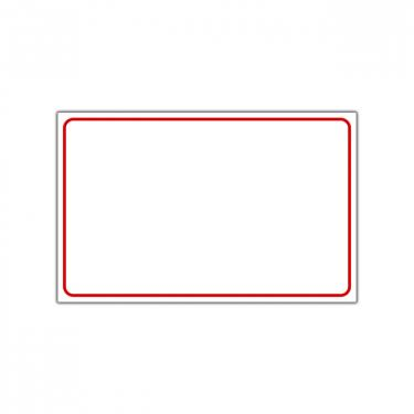 "Sign ""Blank with Red Frame"" Card"