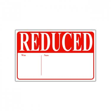 "Re-Usable ""Reduce Was Now"" Sign Card"