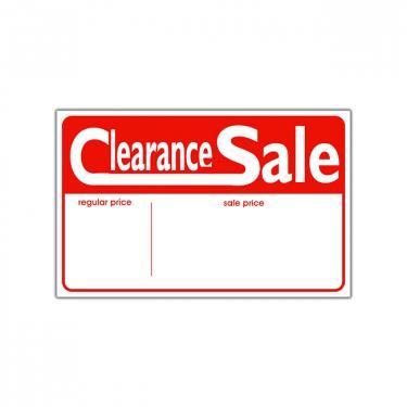 "Sign ""Clearance Sale"" Card"