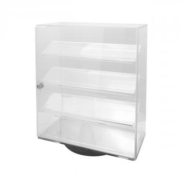 Rotating Acrylic Case with 4 Shelves