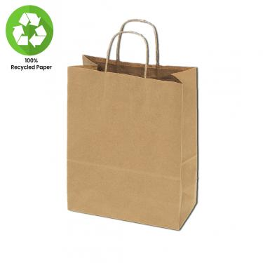 "100% Recycled Kraft Bags 25pc Pack | 16"" x 6"" x 13"""
