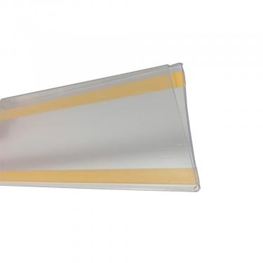 """Adhesive Ticket Molding Clear   3 1/2"""" High x 48"""" Long"""