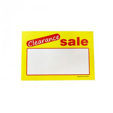 Clearance Sign Pack of 100 Piece