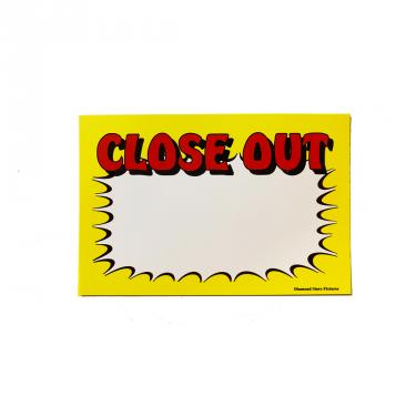Close-Out Sign Pack of 100 Piece