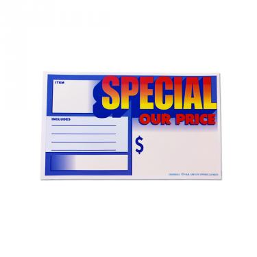 Our Special Price Sign Pack of 100 Piece