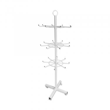 Peg Floor Spinner 3 Tier | White