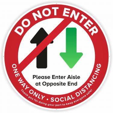 Safe Shop Social Distancing Do Not Enter Decal