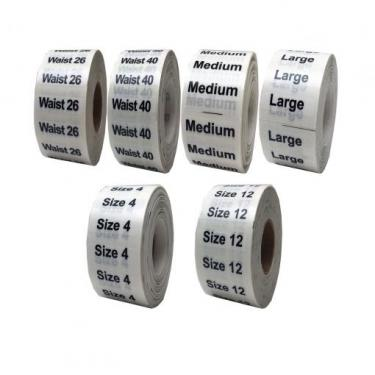 Adhesive Sizing Labels - Choose from a wide selection of sizes.