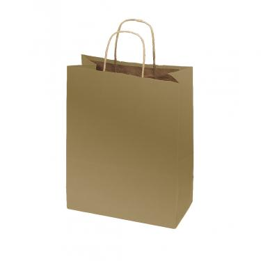 50% Recycled Kraft Bags - Metallic Gold