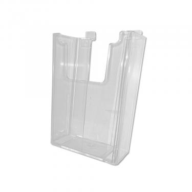 "Slatwall Trifold Literature Holder | 4"" x 9"" Clear"