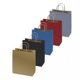 100% Recycled Color Shopper Bags