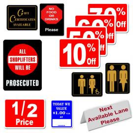 Preprinted Sign Cards