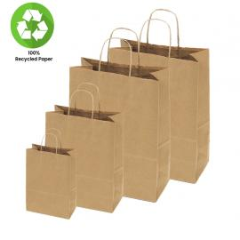 100% Kraft Shopper Bags
