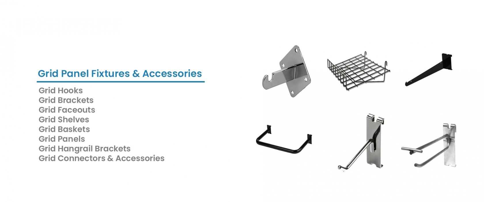 Grid Panel Fixtures and Accessories
